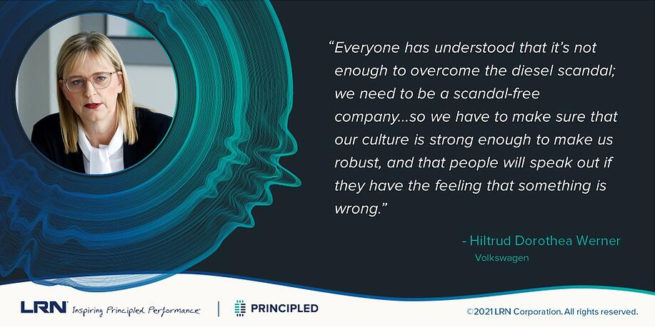 Volkswagen's Hiltrud Werner   LRN Principled Podcast   2021 Ethics & Compliance Program Effectiveness Report