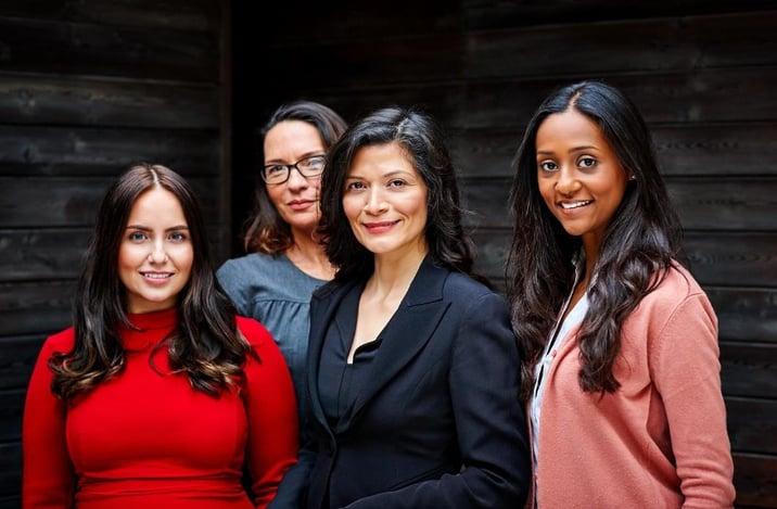 A multi-ethnic group of businesswomen | WEF Gender Gap Report
