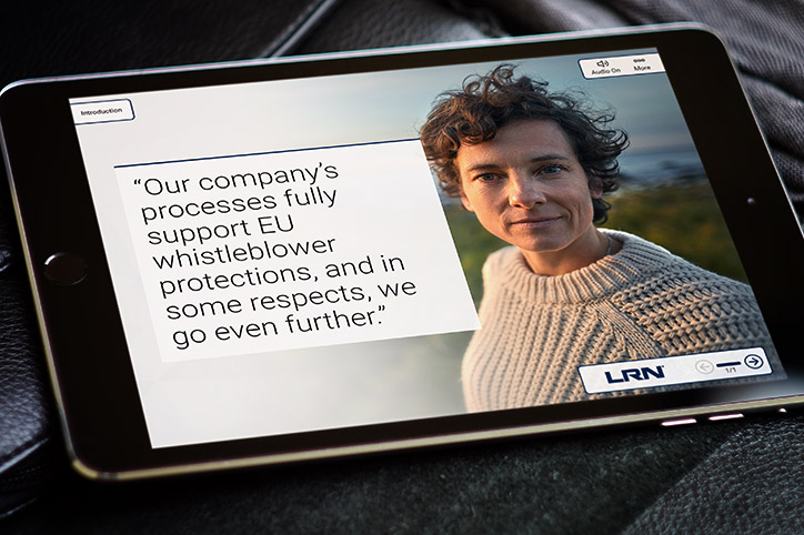 LRN's new EU Whistleblower course encourages using your voice